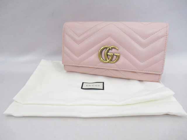 on sale 812df b5808 グッチ GUCCI GGマーモント コンチネンタルウォレット 長財布 ...
