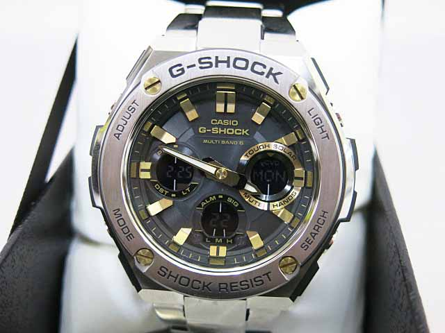 24ec5a6ba8 カシオジーショック CASIO G-SHOCK GST-W110D Gスチール タフソーラー 電波 マルチ ...