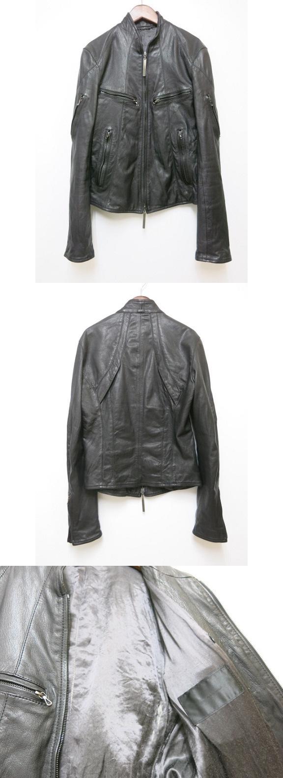 レザージャケット ブラック 2【ブランド古着ベクトル】【中古】190519★