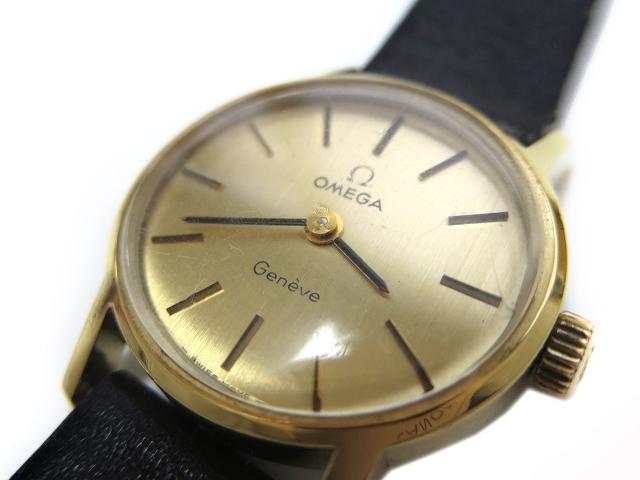 d432c7f2ab ... オメガ OMEGA 18K 金無垢 Geneve ジュネーブ アンティーク 手巻き 腕時計 レディースウォッチ 【中古】