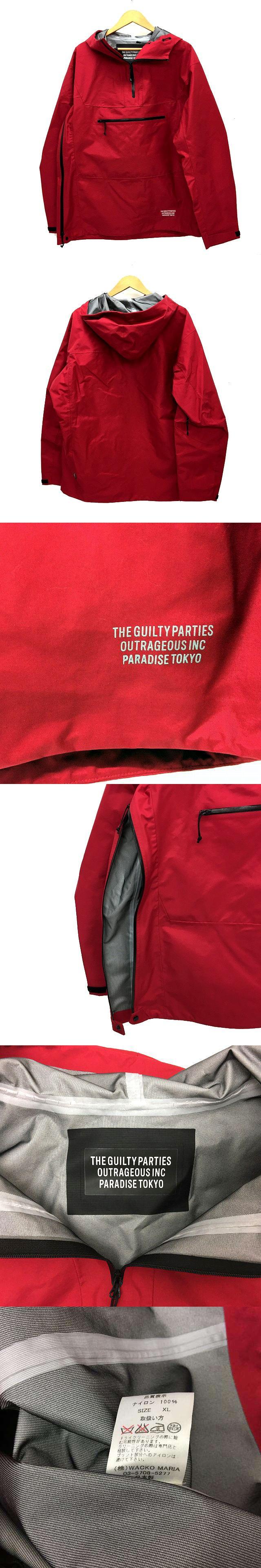 16SS 3L ナイロンアノラック ジャケットマウンテン パーカー プルオーバー サイズ XL 赤 レッド 3LAYER ANORAK JACKET アウター