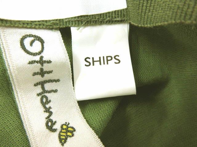 シップス SHIPS OTTHANA ITALY ハット つば広 コットン 緑 ‡