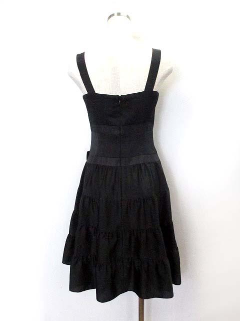 68fecde74a81e バービー Barbie ワンピース M 黒 ブラック ポリエステル ノースリーブ リボン付き ドレス レディース ...