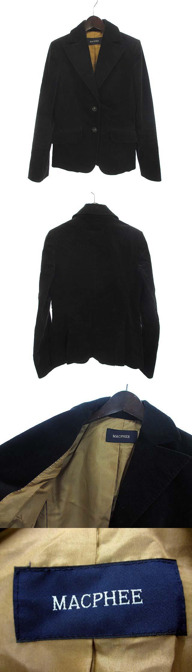 テーラード ジャケット 黒 ブラック コットン 2B コーデュロイ 無地 シンプル Ω