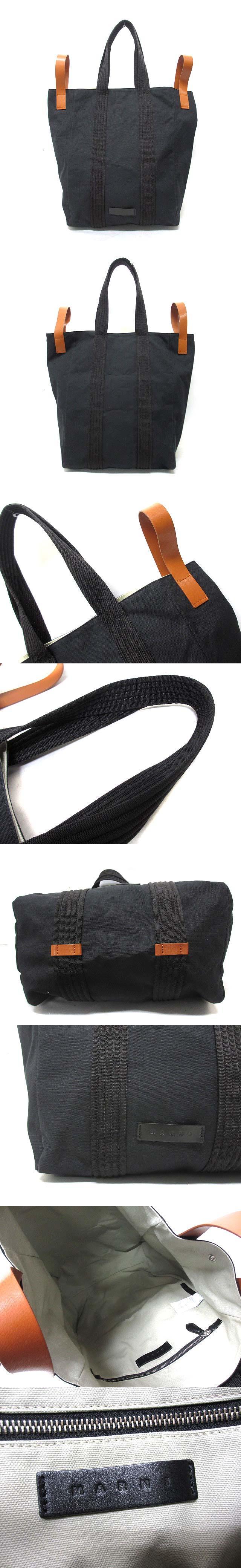 18SS キャンバス トート ショッピング バッグ 黒 ブラック SHMQWWC032487030322S
