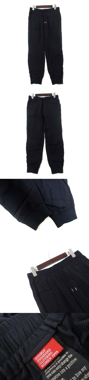 パンツ F 紺 ネイビー キュプラ ウエストゴム 裾リブ ジョガー 2614042