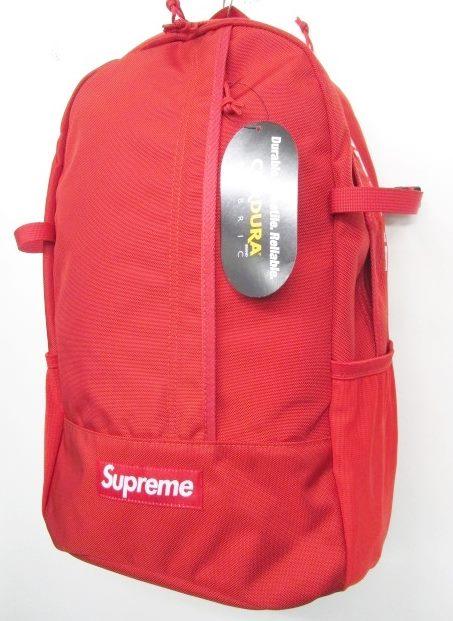 b6087126b7 未使用品 シュプリーム SUPREME 18SS backpack バックパック リュック デイパック CORDURA 赤 0508 メンズ レディース