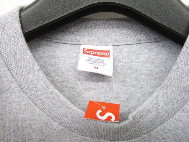未使用品 シュプリーム SUPREME 18SS Gonz Logo Tee Heather Grey Tシャツ カットソー ゴンズ プリント 半袖 灰 グレー M 0703 メンズ