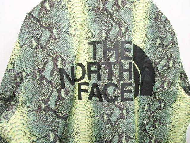 未使用品 シュプリーム SUPREME 新品 18SS THE NORTH FACE ノースフェイス Snakeskin Taped Seam Coaches Jacket コーチジャケット スネークスキン 緑 M 0715 メンズ