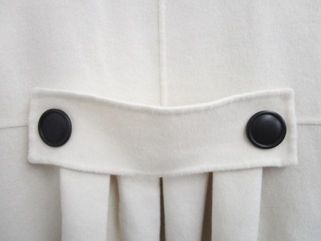 フォクシー FOXEY BOUTIQUE カシミヤ100% ロングコート ジャケット 無地 ダブル 飾りボタン 白 42 IBS 0811 レディース