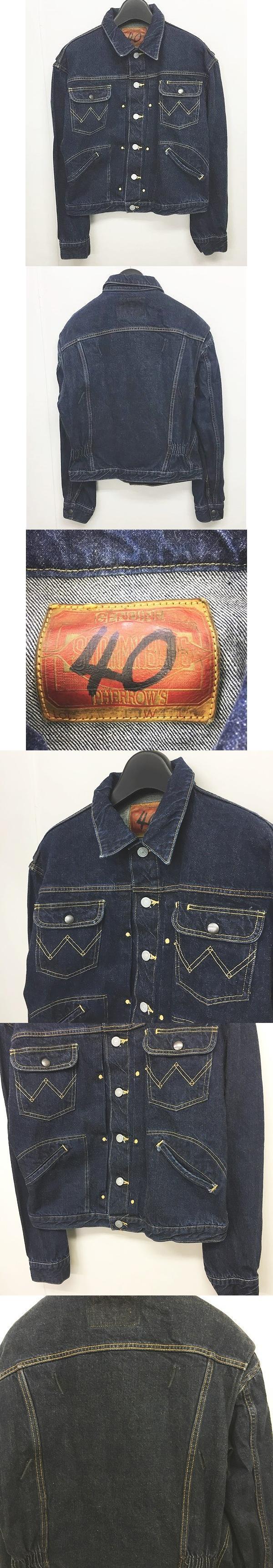 STORMY BLUE Gジャン デニムジャケット ブルゾン青 インディゴ ブルー 40 IBS13 0421