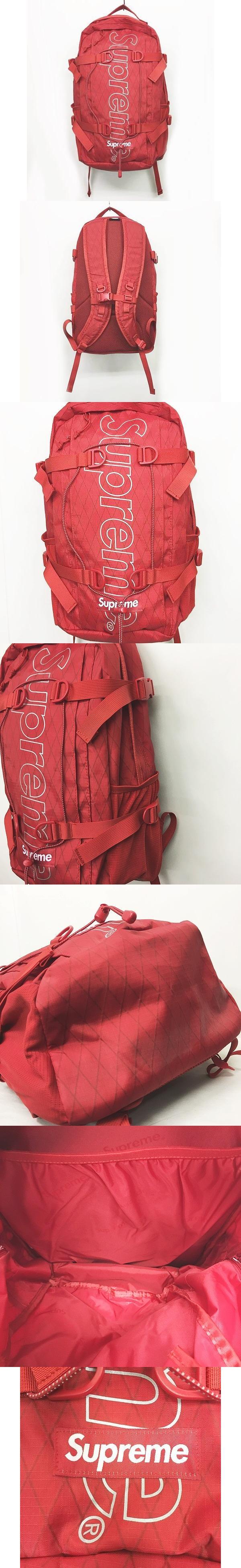 18AW Backpack バックパック リュック デイパック ボックスロゴ 赤 ☆AA★ 0426