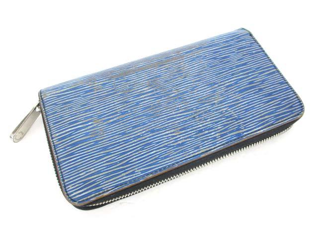 online store 9bf27 86b5c ルイヴィトン LOUIS VUITTON エピ デニム ジッピーウォレット 長財布 ブルー 青 M60957 メンズ レディース