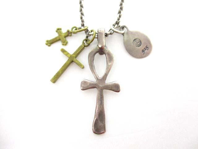 アンプジャパン amp japan アクセサリー ネックレス シルバー 十字架 925