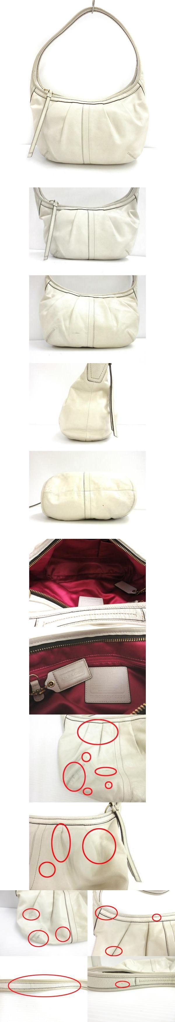 86eb497c8f48 ワン ショルダー バッグ エルゴ レザー プリーテドホーボー オフホワイト 12235 カバン 鞄