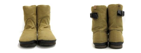 2c0c6c90af44 コース KOOS ROMEO-S ショート ブーツ シューズ 靴 レザー 本革 ベルト 37 カーキグリーン ...