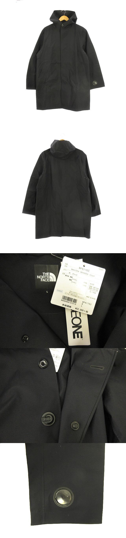 master hooded coat マスターフード コート NP61762 アウター レインコート 防水 ジャケット ボタン フード L 黒 ブラック