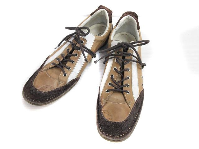 fd93ca3dba558 キャサリンハムネットロンドン KATHARINE HAMNETT LONDON レザー スニーカー 24 1/2 スエード キャメルブラウン  ダークブラウン 靴 メンズ