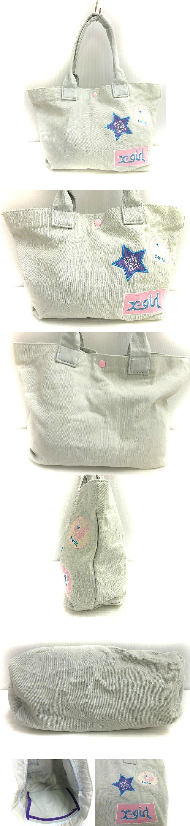 トート バッグ ハンド 手提げ ブルー系 ロゴ 鞄 カバン