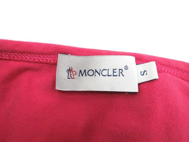 モンクレール MONCLER ビーズ ダック柄 長袖 カットソー ストレッチ S ピンク トップス ロンT レディース