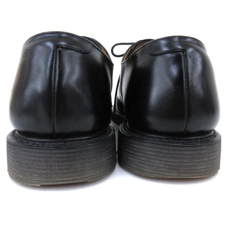 アンダーカバー UNDERCOVER ×foot the coacher 17AW ドレスシューズ プレーントゥ S.S.SHOESベース ローズ 薔薇 プリント US8 26.0cm 黒 ブラック N メンズ