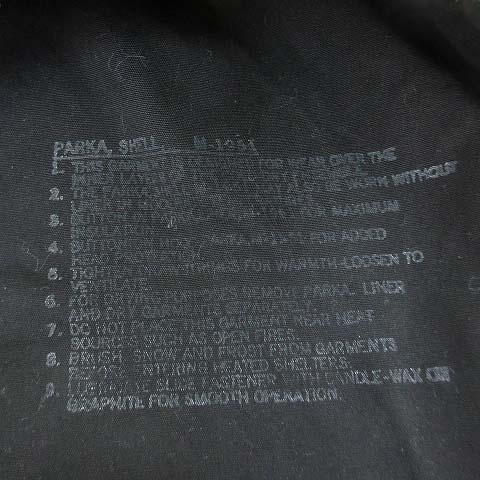 バズリクソンズ BUZZ RICKSON'S WILLIAM GIBSON COLLECTION M-51 PARKA SLENDER ウィリアム ギブソン パーカー モッズコート 黒 ブラック S メンズ
