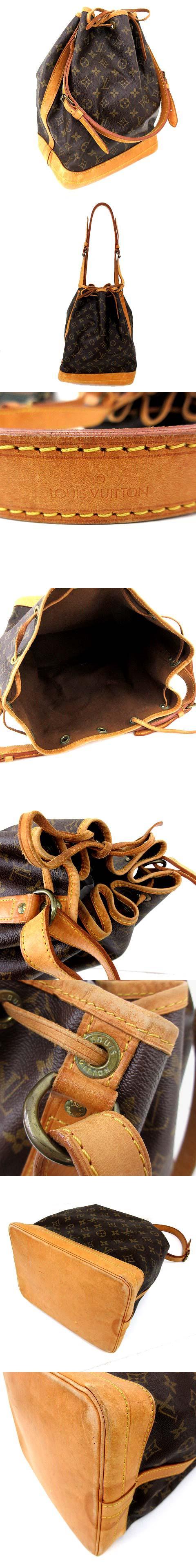 モノグラム ノエ 巾着 ショルダーバッグ 廃盤 M42224 茶 ブラウン フランス製 A