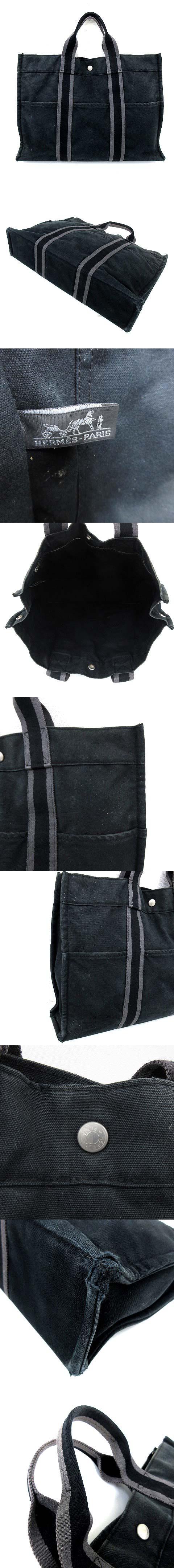 フールトゥ MM ハンド トートバッグ キャンバス 黒 ブラック B4サイズ収納可能 A