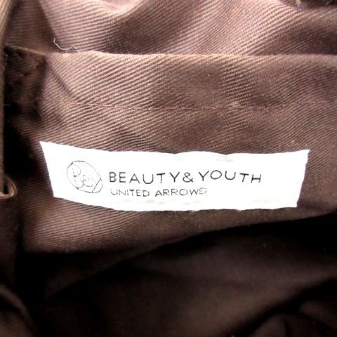 B&Y ユナイテッドアローズ BEAUTY&YOUTH ビューティー&ユース かごバッグ トート スナップボタン スパンコール 大容量 ベージュ ゴールド N レディース