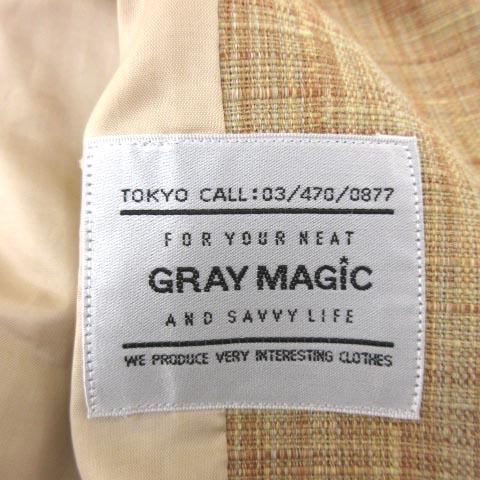 グレイマジック GRAY MAGIC 綿麻 セットアップ リネン混コットン ノーカラー ジャケット ハーフパンツ 上下 スーツ 式典 イベント 9 L~XLサイズ ベージュ IBS59 レディース