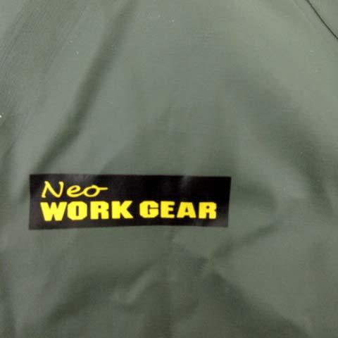 ネオワークギア Neo WORK GEAR セットアップ 2点セット レインコート 雨具 ワーク 作業着 PVC ジャケット オーバーオール ロング カーキ L FK メンズ
