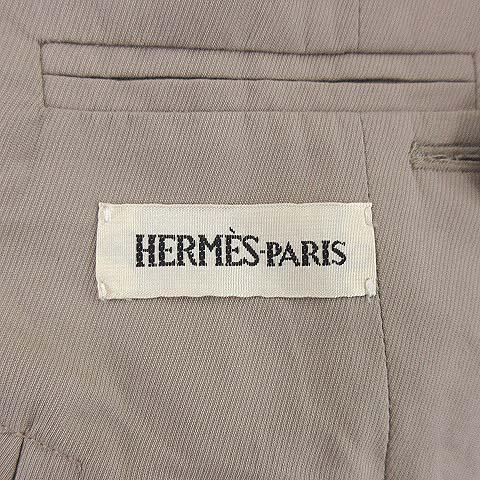 エルメス HERMES マルジェラ期 トレンチコート ハーフ丈 Hボタン ジャケット 3WAY ノーカラー フランス製 38 Mサイズ ECR7 レディース