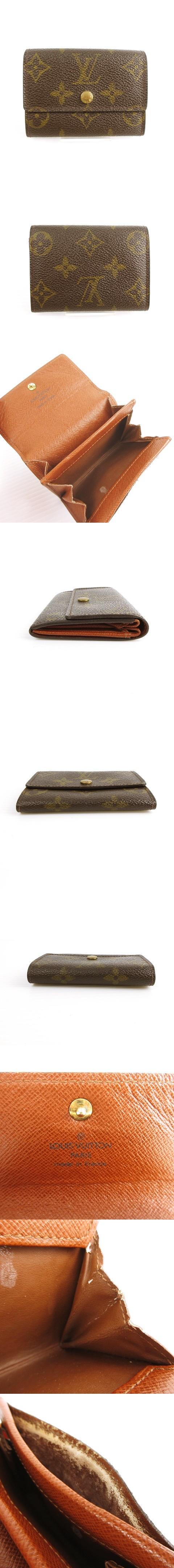 モノグラム ポルトモネ プラ コインケース M61930 カードケース 名刺入れ 小銭入れ 財布 ウォレット ブラウン 茶