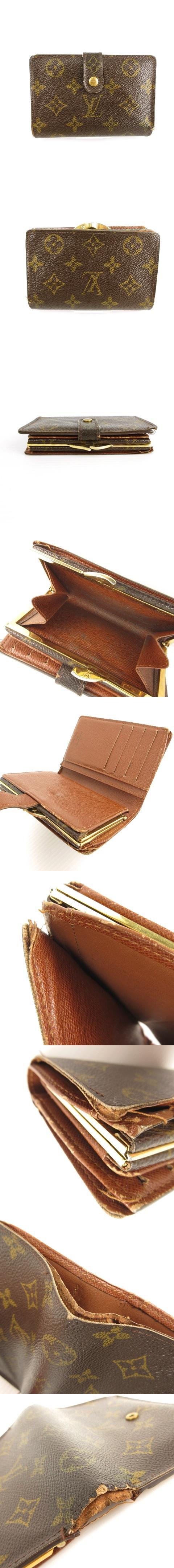 モノグラム ポルト モネ ビエ ヴィエノワ M61663 財布 ウォレット 二つ折り がま口 小銭入れあり ブラウン 茶