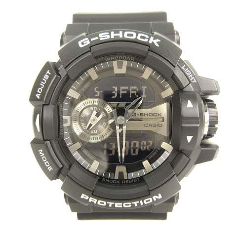 a4bd9435a3 カシオジーショック CASIO G-SHOCK GA-400GB デジタル アナログ 腕時計 アナデジ ブラック シルバー メンズ