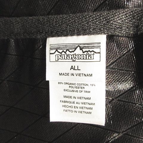 パタゴニア Patagonia STAND UP TOTE 48385 スタンドアップトート トートバッグ キャンバス オーガニックコットン × TPUコーティング ミドルショルダー 大容量 ブラック 黒 アウトドア 国内正規品 タグ付き 未使用 美品 ユニセックス メンズ レディース