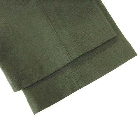 マーガレットハウエル MARGARET HOWELL ワイドパンツ トラウザーパンツ ウール ワンタック XL ダークグリーン IBS63 メンズ