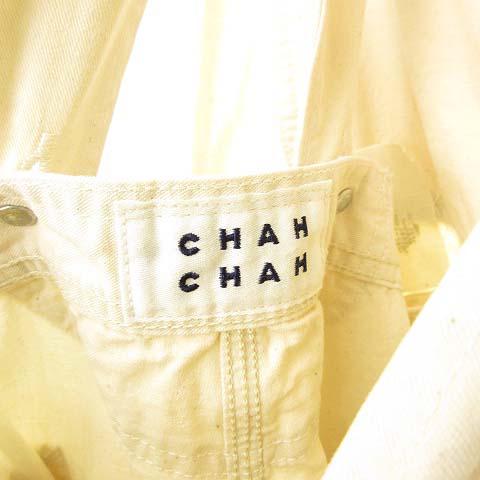 未使用品 リー LEE × チャーチャー ChahChah 2Way Oversized Overalls オーバーサイズ オーバーオール ダメージ リペア加工 M アイボリー CC21SS-LCOV01 メンズ レディース