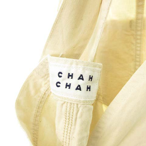 未使用品 リー LEE × チャーチャー Chah Chah 21SS 2Way Oversized Overalls オーバーサイズ オーバーオール ダメージ リペア加工 M アイボリー CC21SS-LCOV01 メンズ レディース