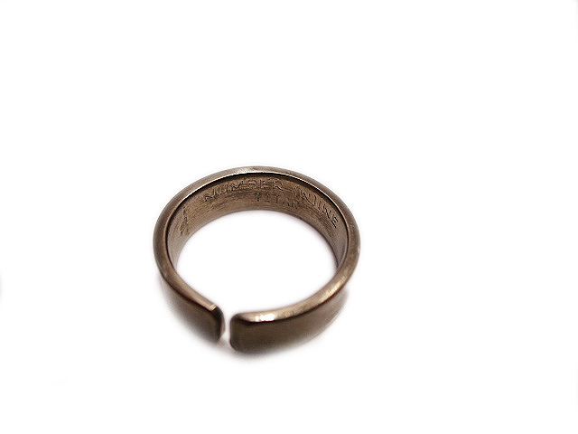 ナンバーナイン NUMBER (N)INE リング 指輪 8号 ★ メンズ