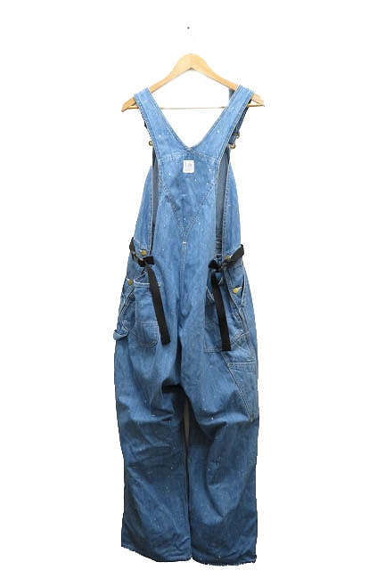 ディガウェル DIGAWEL x Lee OVERALLS オーバーオール 1 46 青 インディゴ ブルー ブランド古着ベクトル 中古 201008 0130 メンズ
