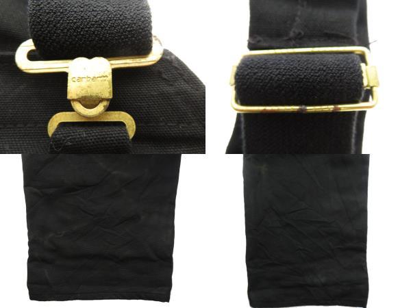 カーハート carhartt 90s USA製 Carhartt ダブルニー ダック地 オーバーオール 黒 ブラック ブランド古着ベクトル 中古 210605 0070 メンズ