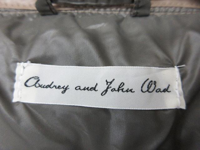 オードリーアンドジョンワッド Audrey and john wad ダウンベスト F 茶 無地 ブラウン ジップアップ ジャケット アウター 軽量 レディース