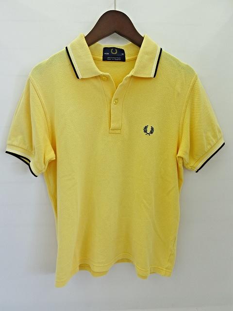 feae6e3ef37b フレッドペリー FRED PERRY 半袖 ポロシャツ カットソー 黄色 イエロー 36 M 3008655236000147 メンズ