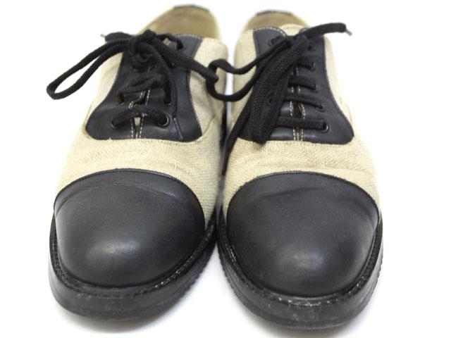 コムデギャルソンオム COMME des GARCONS HOMME 靴 シューズ ドレスシューズ ツートン バイカラー ベージュ 黒 ブラック /ZT15 SSAW メンズ