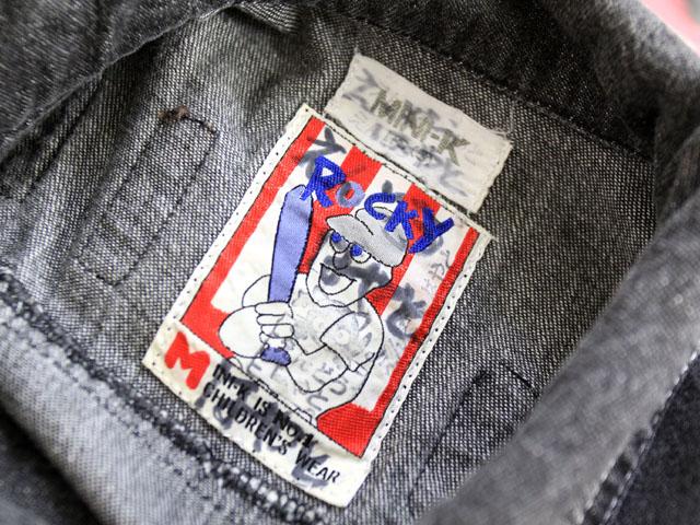 子供服 キッズ ミニケー ミニK MINI-K ジャケット ジャンパー デニム ジージャン 長袖 ワッペン ロゴ 110 グレー /H856 春秋
