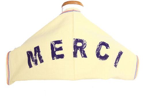 未使用 タグ付 新品 ドレステリア DRESSTERIOR Le TiROiR バンダナ スカーフ ハンカチ MERCI ロゴ コットン 綿 イエロー 黄 /Hn735 春秋 メンズ レディース