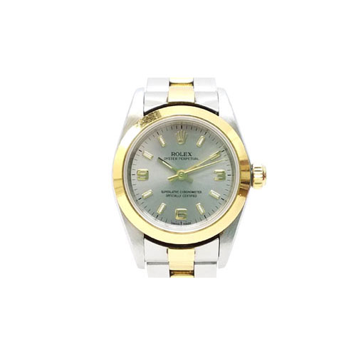 07cc962524 ロレックス ROLEX オイスターパーペチュアル K番 76183 イエローゴールド ステンレス コンビ グレー 腕時計 ウォッチ 箱付 /Z  SSAW レディース