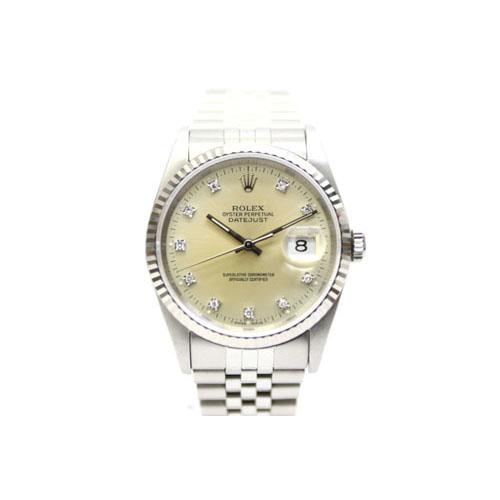 3cce536e33 ロレックス ROLEX デイトジャスト X番 16234 WG ホワイトゴールド コンビ 10Pダイヤ 腕時計 ウォッチ /Z SSAW メンズ