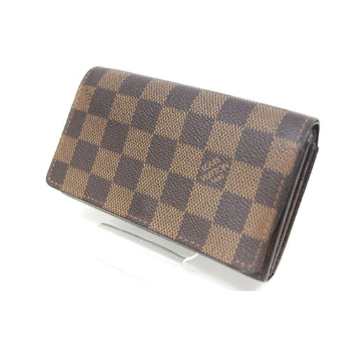 reputable site 38937 98c0a ルイヴィトン LOUIS VUITTON 財布 コンパクト ポルトモネビエトレゾール ダミエ エベヌ /Z メンズ レディース